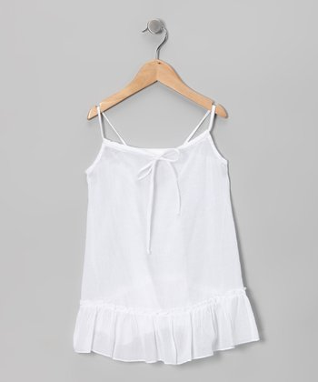 White Swing Tunic - Toddler & Girls
