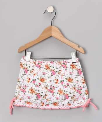 Pink La Vie En Rose Swim Skirt - Toddler & Girls