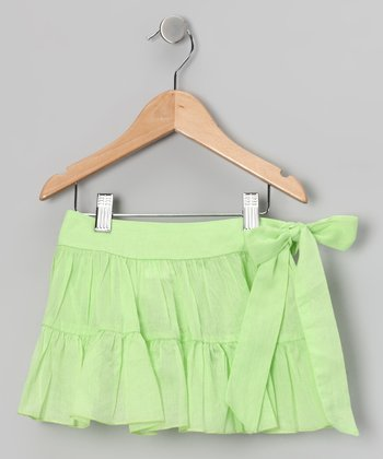 Green Sash Skirt - Toddler & Girls