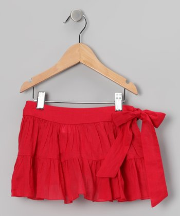 Red Sash Skirt - Toddler & Girls