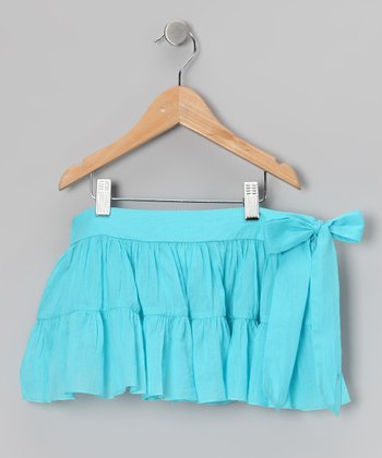 Turquoise Sash Skirt - Toddler & Girls