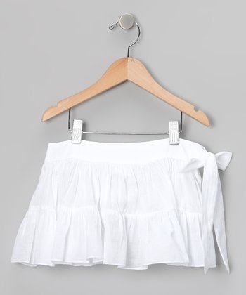 White Sash Skirt - Toddler