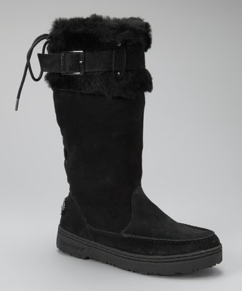 Black Suede Siren II Boot - Women