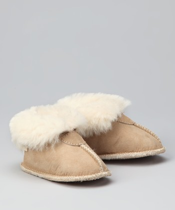 Sand Suede Maple Booties - Kids