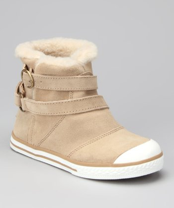 Camel Suede Hermosa Boot - Kids