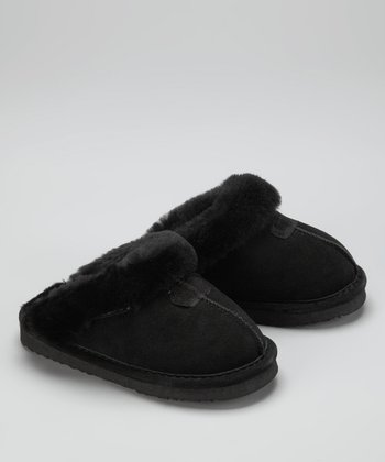 Black Suede Loki II Slipper - Kids