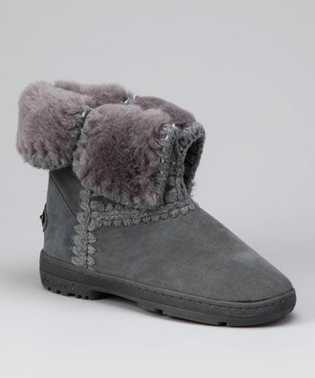 Charcoal & Light Gray Suede Ashton Boot - Women