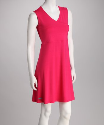 BIS.KOT Pink Asuka Maternity & Nursing Surplice Dress