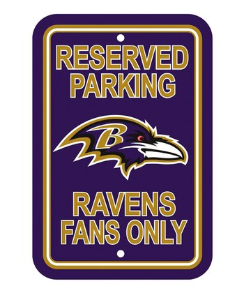 Baltimore Ravens 'Reserved Parking' Sign