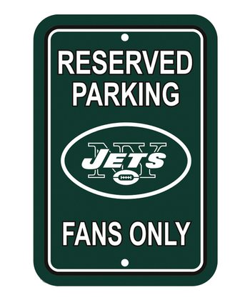 New York Jets 'Reserved Parking' Sign
