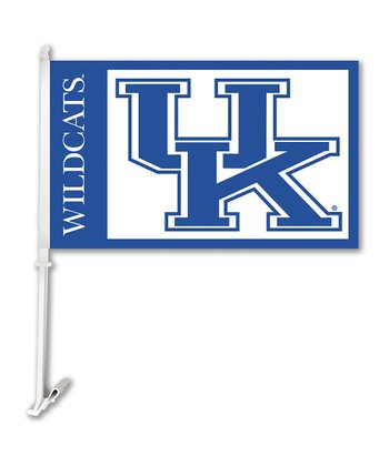 University of Kentucky Car Flag & Wall Bracket