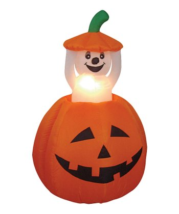 Pumpkin & Ghost Inflatable Light-Up Lawn Decoration