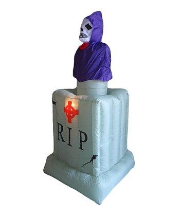 Ghost & Tombstone Inflatable Light-Up Lawn Decoration