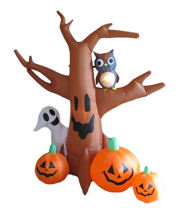 Halloween Tree Inflatable Light-Up Lawn Decoration