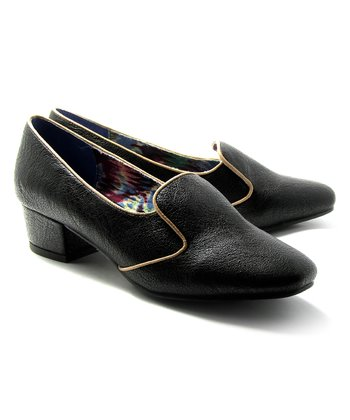 Black Noel Loafer Pump