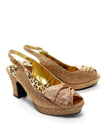 Gold Brook Peep-Toe Sandal