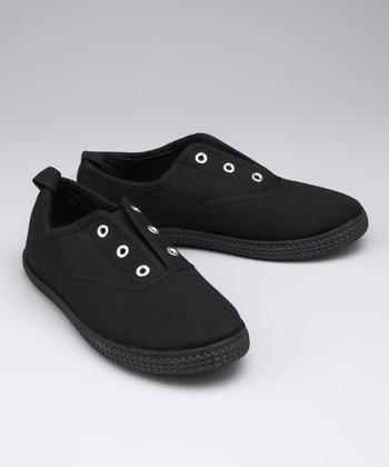 Black Slip-On Sneaker