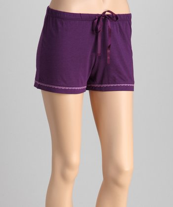 Violet Lace-Trim Shorts - Women