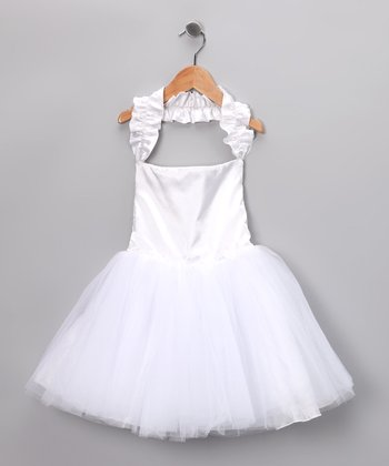 White Tutu Halter Dress - Infant & Toddler
