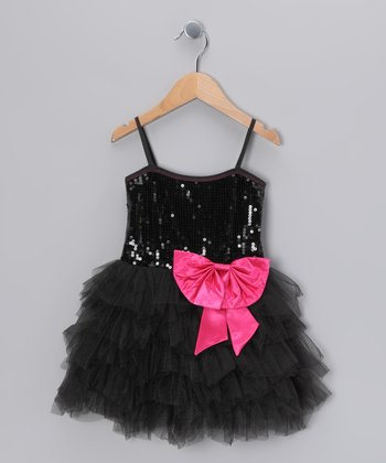 Black Sequin Princess Dress - Toddler & Girls