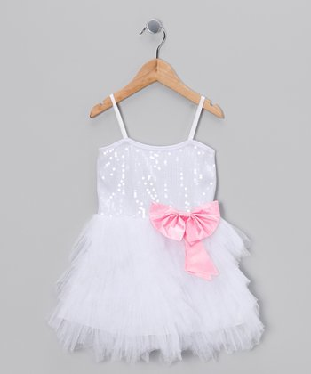 White Sequin Princess Dress - Toddler & Girls