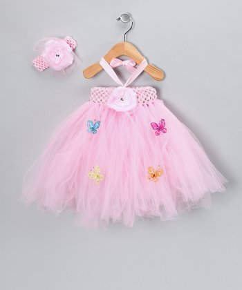 Baby Pink Tutu Dress & Headband - Infant & Toddler