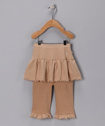 Wheat & Chestnut Organic Skirted Pants