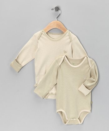 Green Tea & Pistachio Organic Bodysuit Set