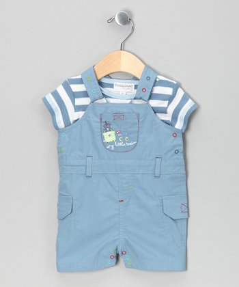 Blue Stripe Bodysuit & Shortalls
