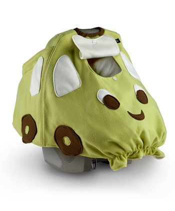 BabbaCo Green Beep Beep Snuggle Fleece Car Seat Cover
