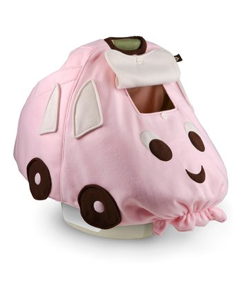 BabbaCo Pink Beep Beep Snuggle Fleece Car Seat Cover