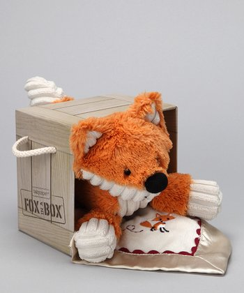 Orange Plush Fox in a Box & Lovey Set