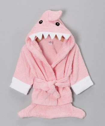 Pink Let the Fin Begin Shark Robe