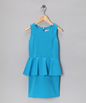 Blue Peplum Dress