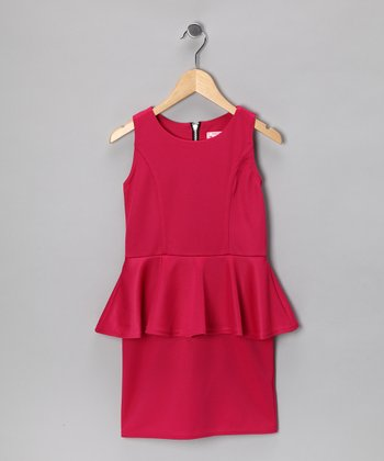 Fuchsia Peplum Dress