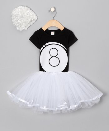 White Eight Ball Tutu Set - Infant