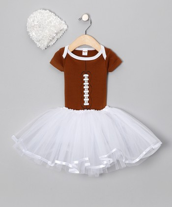 Brown Football Tutu Set - Infant