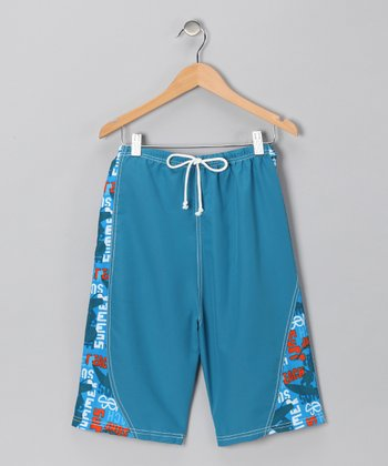 Blue Sun Surf Swim Trunks - Infant