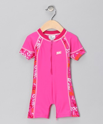 Pink One-Piece Rashguard - Infant