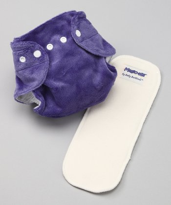 Twilight Purple Magic-Alls Minkee All-in-One Pocket Diaper