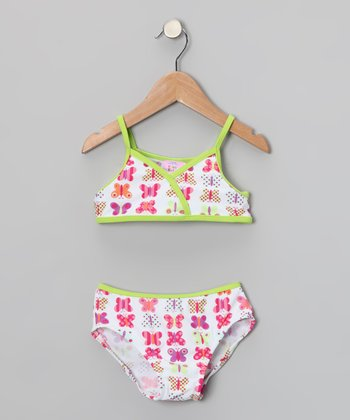 Pink & Green Butterfly Bikini - Infant & Toddler