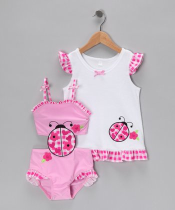 Baby Buns Ladybug One-Piece & Cover-Up - Infant & Girls