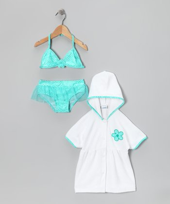 Aqua Mermaid Bikini & Cover-Up - Infant