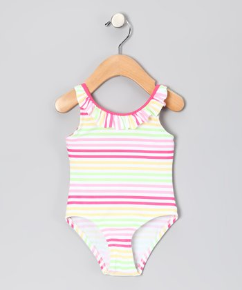Pink Stripe One-Piece - Infant