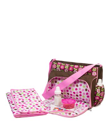 Pink Frilly Flower Messenger Bag