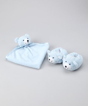 Blue Bear Blanket & Slippers