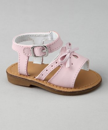 Pink Perforated Sandal
