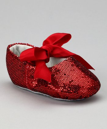 Red Glitter Ribbon Flat
