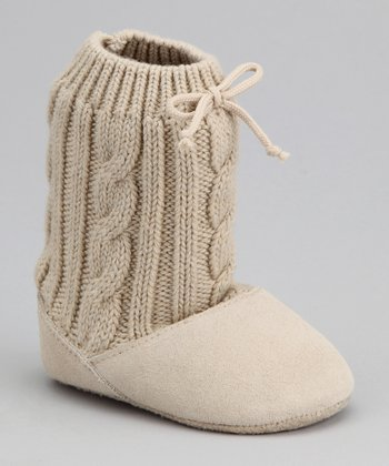 Tan Suede Sweater Boot
