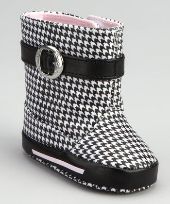 Black & White Houndstooth Rain Boot